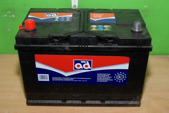 Akumulators AD 12V 91Ah740A (306X175X225)