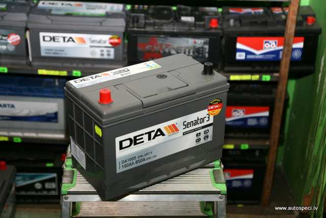Akumulators Deta 100Ah 850A REV