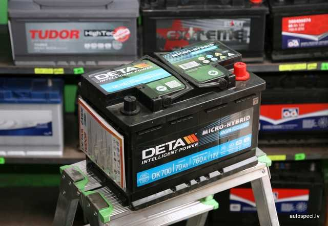 Akumulators Deta AGM 70Ah 760A