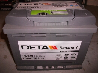 Akumulators Deta Senator3 64AH 640A