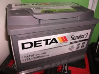 Akumulators Deta Senator3 77AH 760A