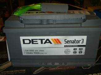 Akumulators Deta Senators3 100AH 900A