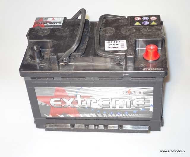 Akumulators Start Extreme 75Ah 680A