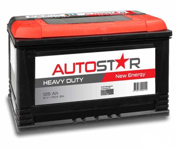 Akumulators Autostar 125AH 750A
