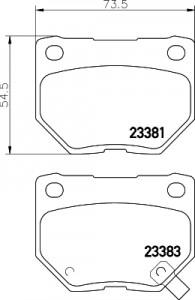 Bremzu kluci aizmugurejie FDB1372