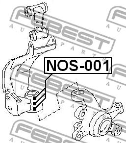 Nissan gultnu kompl stures pagrieziena NOS-001