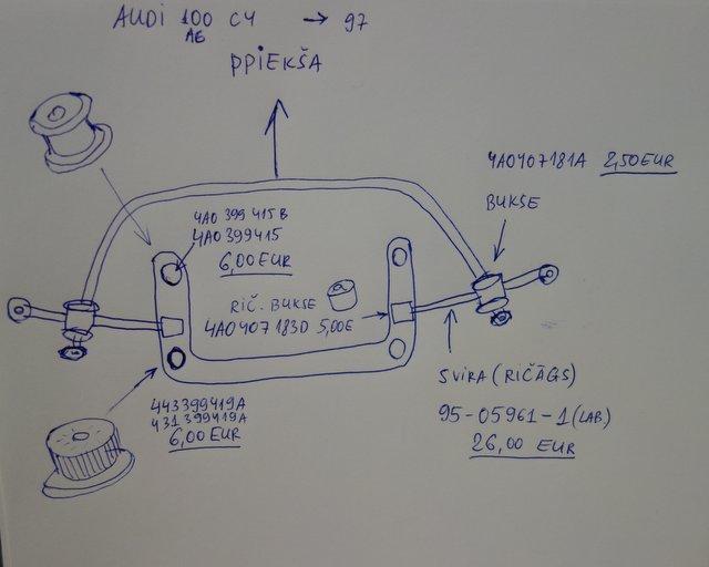 Shema Audi 100 C4 A6 -97