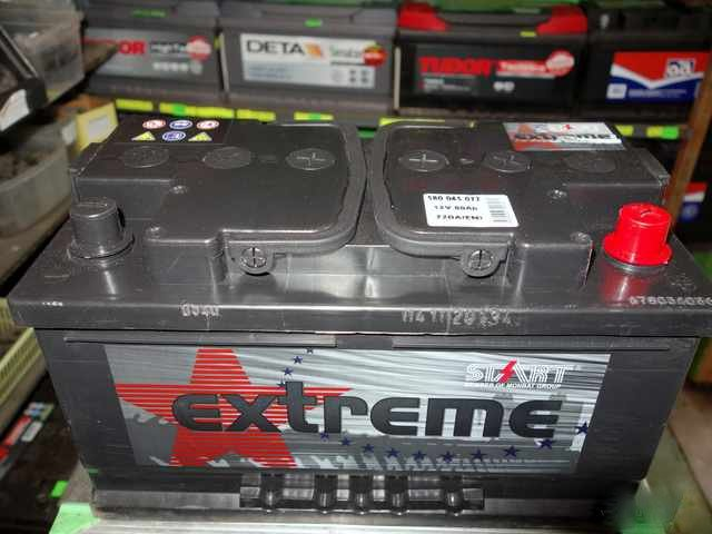Akumulators Start Extreme 80Ah 720A