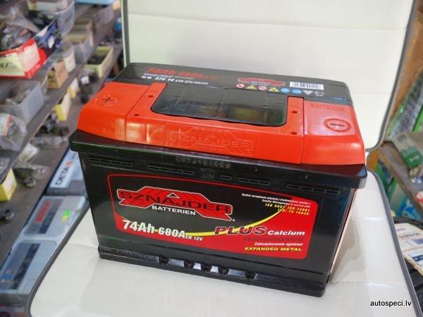 Akumulators Sznajder 74Ah 680A Rev