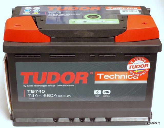 Akumulators Tudor technica 74Ah 680A