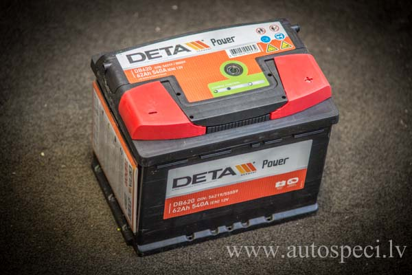 Akumulators Deta Power 62Ah 540A