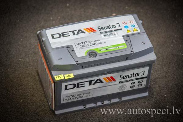 Akumulators Deta Senator 3 72 Ah 720A