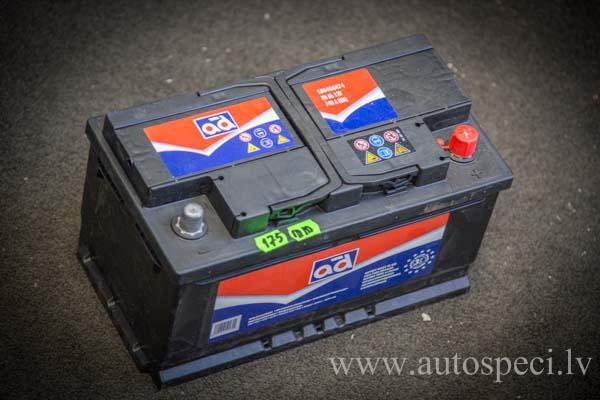Akumulators AD 80Ah 740A zemais