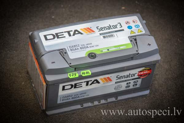 Akumulators Deta Senator 3 85Ah 800A