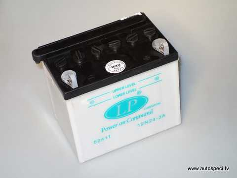Akumulators moto un zāles pļāvējam Landport 12N24-3A 12V 24Ah
