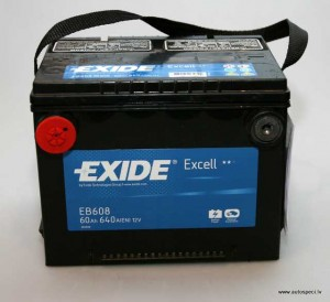 Akumulators Exide 60Ah 640A USA