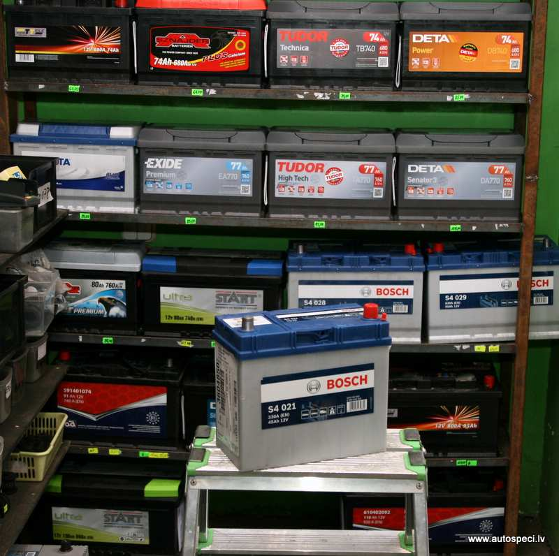 Akumulators Bosch 45AH 330A lielas klemmes japanu